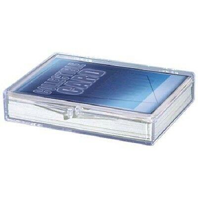 Lot of 5 Ultra Pro 35ct Count Hinged Clear Card Storage Box Boxes New
