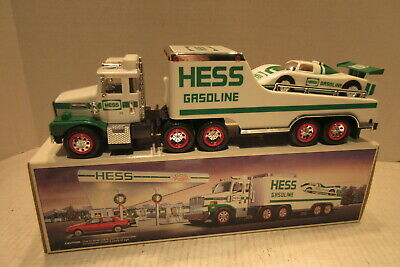 1988 Toy Hess Truck and Racer Car Gasoline with Box