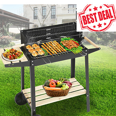 BBQ Barbecue Steel Charcoal Grill Outdoor Patio Garden New 2019Large Rectangular