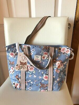 New Cath Kidston X Disney Bambi Crossbody Bag Bnwt Bambi Rose Lightweight Blue