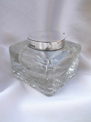 ANTIQUE SILVER GEORGE NATHAN & RIDLEY HAY INK INKWELL Chester 1903