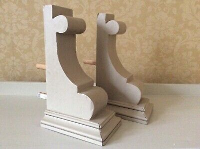 ANTIQUE VICTORIAN PAIR OF WALL SCONCE / CORBELS - DECORATIVE SALVAGE - 36cm tall