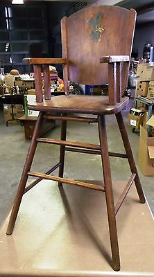 Antique High Chair-Safe-T-Bilt High Chairs-Williamsburg Chair Co,williamsburg Oh