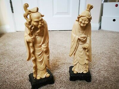 Antique chinese figurines statues vintage collectors rare ornaments