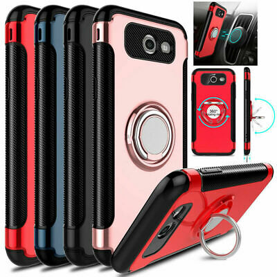 For Samsung Galaxy J7 Star/Crown/V 2018 Case 360° Clip Holster+Tempered Glass US