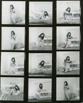 1967 COLLETTE BERNE' NUDE CONTACT SHEET FAMOUS CUTE PIXIE 12 PHOTOS by VOGEL #F