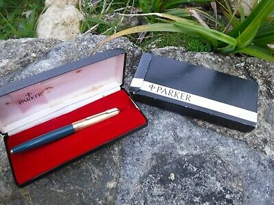 Cased And Boxed Parker Fountain Pen 65 Custom M P181 From 1973
