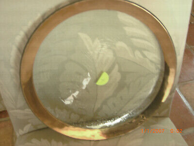 """Signed AnnieGlass Roman Antique Gold 12"""" Service Plate Charger 1985 #4"""