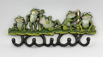 9977112 Hook Strip Coat Rack Metal Frog Frogs