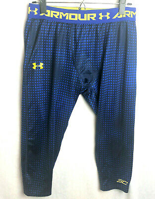 a89b4ff7b5a5d Under Armour XL Steph Curry SC Printed 3/4 Leggings Basketball Fitted Blue