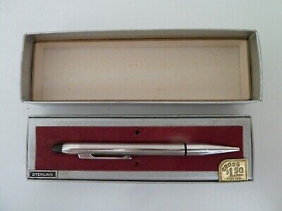 CROSS USA STERLING SILVER PROPELLING PENCIL 9cm LONG BOXED