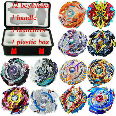 SALE 12X SET Beyblade Burst Evolution Arena Launcher Battle Stadium Spinning Top