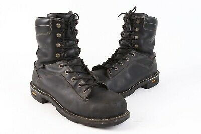 b7459b609a3 DANNER QUARRY BLACK Leather Steel Toe GORE-TEX Work Boots USA Mens 13 EE