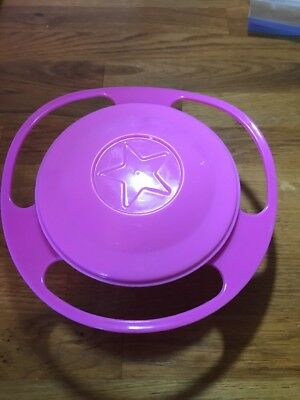 Pink Non-spill Toddler Child Bowl With Lid And Handles