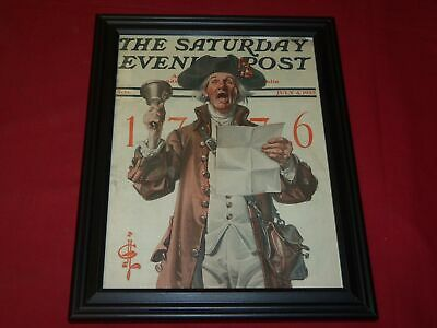 1925 July 4 Saturday Evening Post Framed Leyendecker Front Cover - Independence