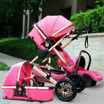 Baby Stroller 3 in 1 with Car Seat For Newborns Folding Baby Carriage Prams F1