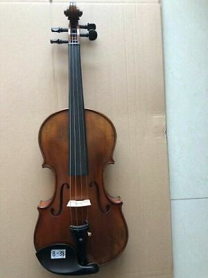 4/4 Violin old style Solid flamed maple back spruce top handmade nice tone B38