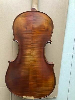 4/4 Violin solid flamed maple back spruce top handmade nice tone B32