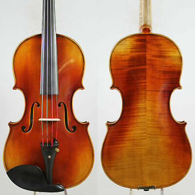 "Antonio Stradivari ""Dolphin"" 1714 4/4 Violin Copy M5468 Rich Clear!Oil varnish!"
