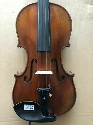 4/4 Violin old style Solid flamed maple back spruce top handmade nice tone E2