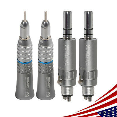 2*Dental Slow Straight Handpiece fit Prophy Angle+Air Motor E-Type Micromotor 4H