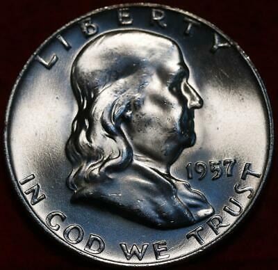 Uncirculated 1957-D Denver Mint Silver Franklin Half