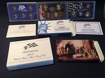 2007-S United States Mint Proof Set 14-Coin Set W/ Box & Coa