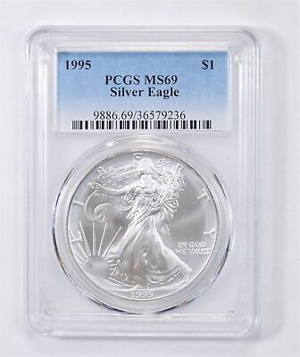 1995 American Silver Eagle MS-69 1 Troy Oz PCGS Graded *569
