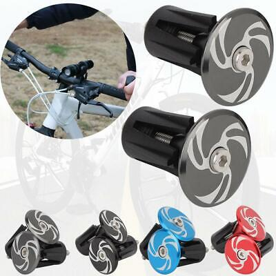 CANSUCC 2pc Bike Grips Aluminum Alloy Cycling Handle Bar End Plugs Bicycle Parts
