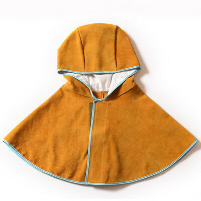 Leather Welding Hood Flame Retardant Welder Protective Cape Cover Cap Hat Safety