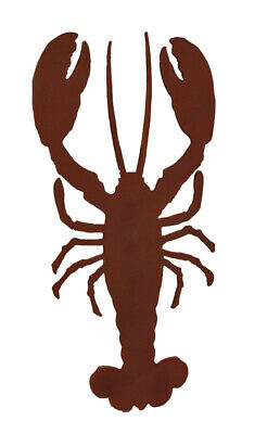 Zeckos Wooden Red Lobster Wall Hanging 17 x 34 inch