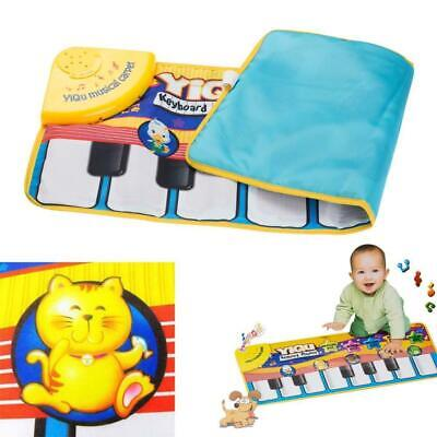 Musical Music Kid Piano Play Baby Mat Animal Educational Soft Kick Toy For Kid