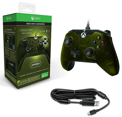PDP Wired Xbox One 1 S X & Windows Controller Green NEW Officially Licenced