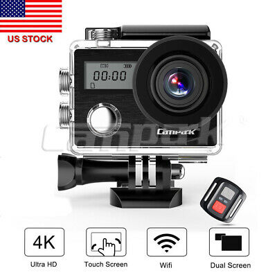Campark X20 Action Sports Camera 4K 20MP WiFi Touch Screen Waterproof Dual LCD