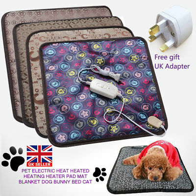 2018 Pet Electric Heat Heated Heating Heater Pad Mat Blanket Bed Dog Cat Bunny A