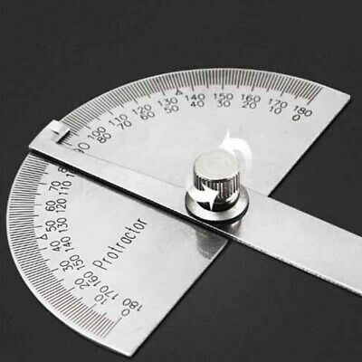 0-180 Protractor Degree Angle Finder Gauge Stainless Steel Rotation Ruler Gage
