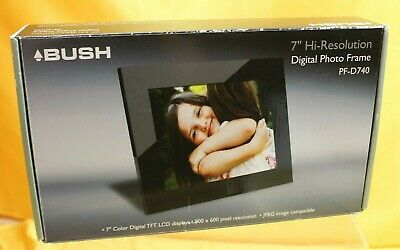 "Bush 7"" Hi-Resolution Digital Photo Frame PF-D740 ##???55JMH"