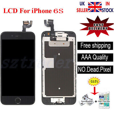 For iPhone 6S LCD Screen Replacement Digitizer Touch Home Button Camera Black