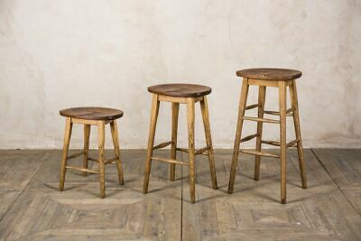 Vintage Style Wooden Lab Stools Bar Stools Breakfast Bar Stools School Stools