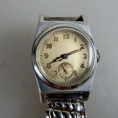 Herrenarmbanduhr Hermann Becker Nickel/Stahl um/ab 1935 (53274)