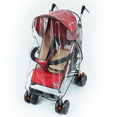 Universal Pushchair Buggy Rain Cover Baby Clear Stroller Pram Wind Dust Shield ^