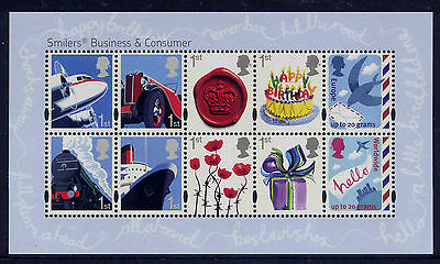Gb 2010 Business & Consumers Smilers Miniature Sheet Mnh