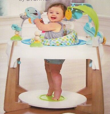 EvenFlo Gleeful Sea Baby Toddler ExerSaucer 2-i n-1 activity center & art table