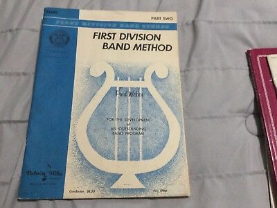 First Division Band Course: First Division Band Method - Drum Level 2 (1963, Pap