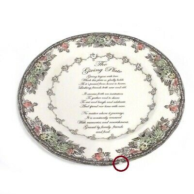 Johnson Brothers Friendly Village Scalloped Edge Hand-Finished Giving Plate