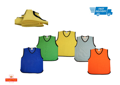 Premium Mesh Training Bibs Football Rugby Soccer Mens Adult Youth Kids Sizes