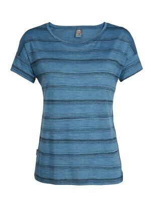 Icebreaker Cool Lite Via Short Sleeve Scoop T-Shirt Damen thunder scratcch strip