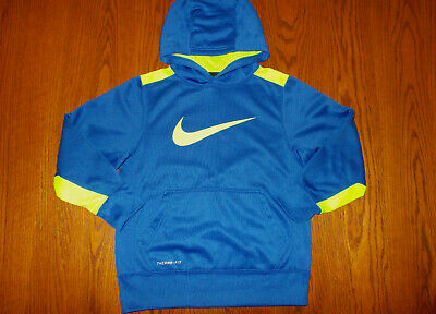 0c52d87099a2 Nike Therma-Fit Blue Hooded Sweatshirt Boys Small Excellent Condition
