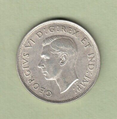 1939 Canadian 50 Cents Silver Coin - VF