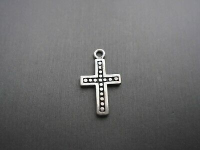 Vintage Sterling Silver **cross With Beads  Pendant Charm** #ms644